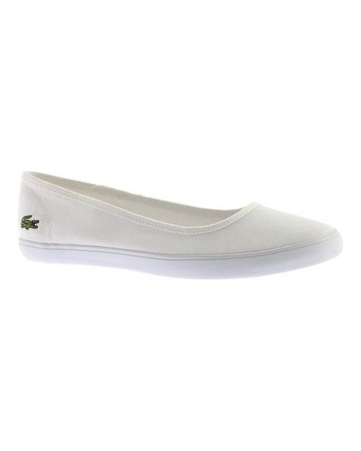 Ballet Bl 1 Lyst In White Marthe Lacoste Flat qxwSg1H