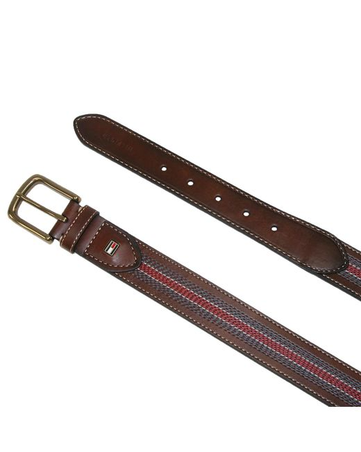 e00d69aa76b19 ... Tommy Hilfiger - Brown Center Stripe Stitch Casual Belt Tan for Men -  Lyst ...