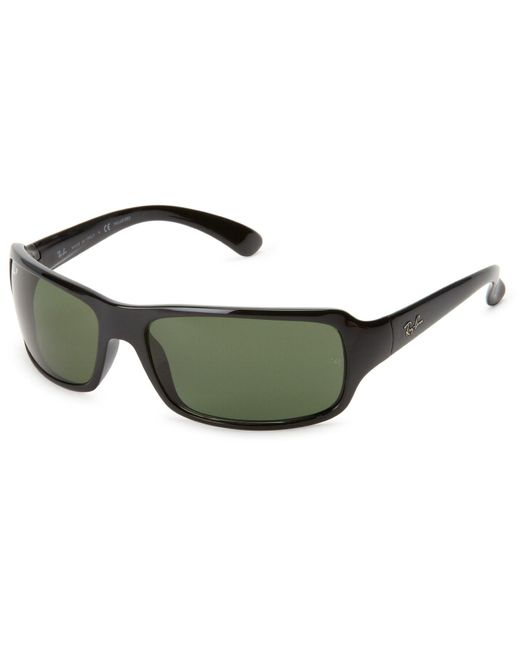 Ray-Ban - 0rb4075 601/58 61 Black/crystal Green Polarized Highstreet Sunglasses for Men - Lyst