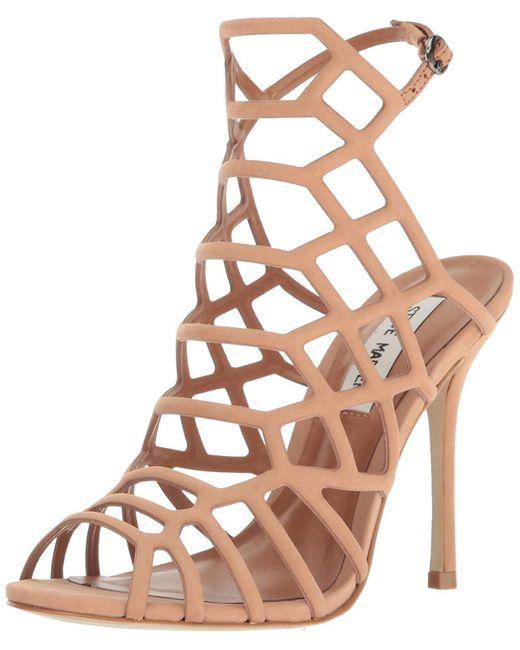 2342cdf40fb416 Steve Madden - Brown Slithur Dress Sandal Nubuck - Lyst ...