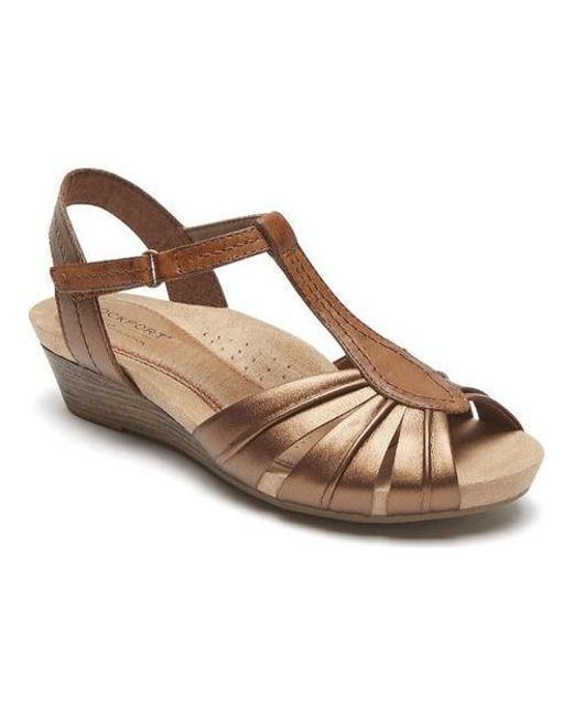 Cobb Hill Hollywood Pleated T-Strap Sandals 7hbRSrwayu