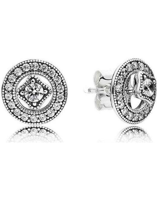 Pandora Women Silver Stud Earrings - 290721CZ jR1ctz4