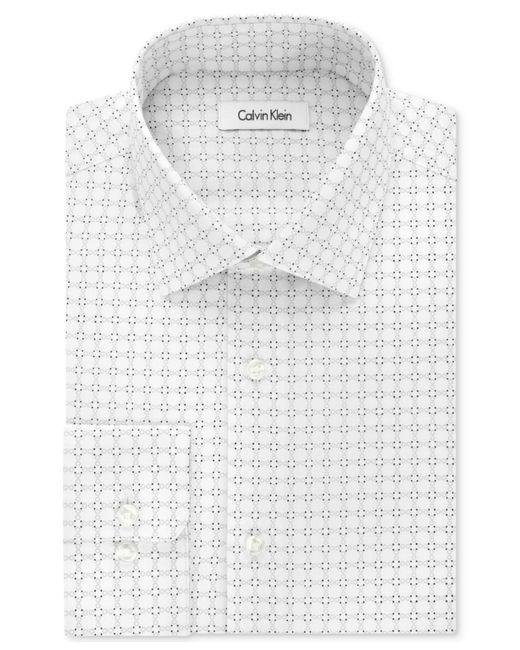 CALVIN KLEIN 205W39NYC - White Printed Regular Fit Dress Shirt for Men - Lyst
