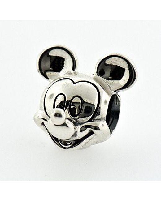5b309f254 ... Pandora - Metallic Disney Mickey Silver Charm - Lyst ...