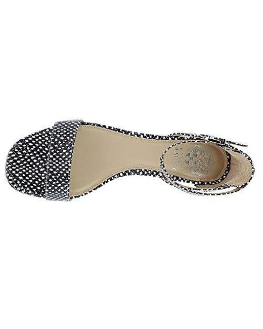 b4fe02a3a ... Vince Camuto - Black Shetana Leather Open Toe Formal Espadrille Sandals  - Lyst ...