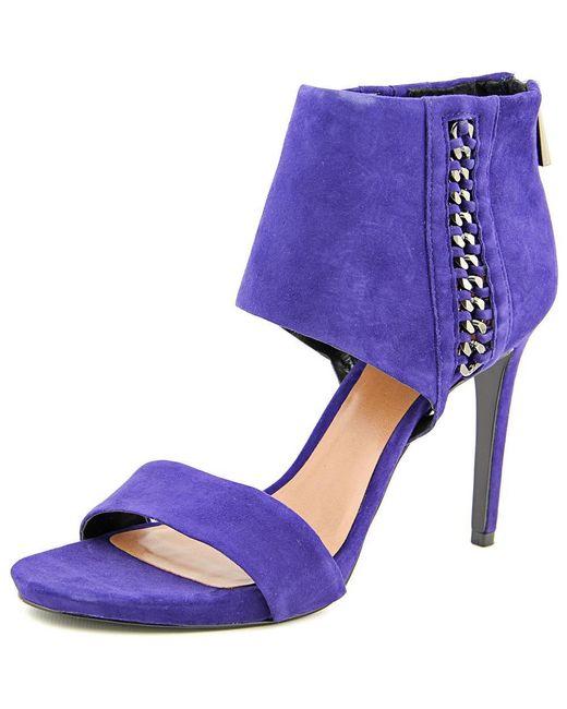 Vince Camuto - Freya Women Open-toe Suede Blue Heels - Lyst