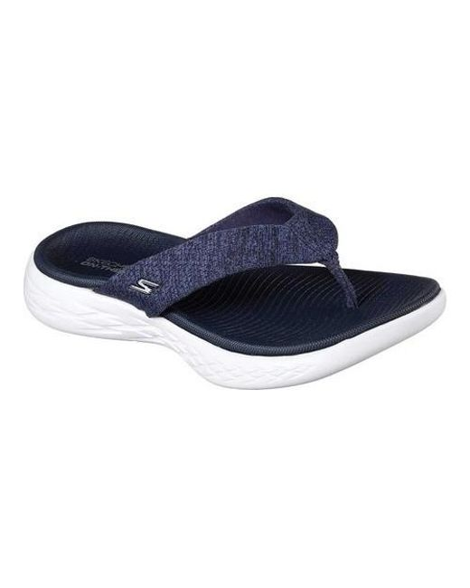 7efbf8d7d0a1 Lyst - Skechers On The Go 600 Preferred Thong Sandal in Blue - Save 23%