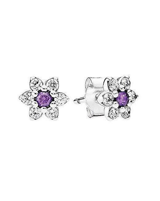 Pandora | Multicolor Forget Me Not Stud Earrings | Lyst