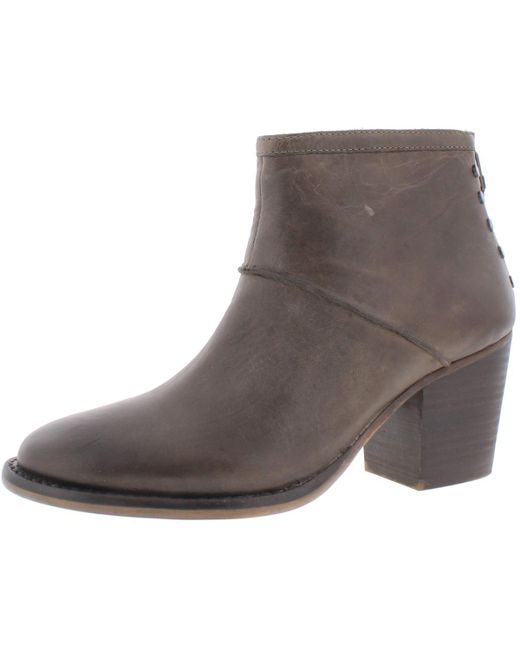 Womens reggy Leather Stacked Booties