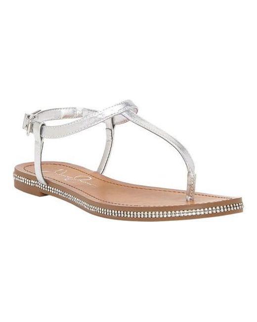 Jessica Simpson - Metallic Brimah Thong Sandal - Lyst