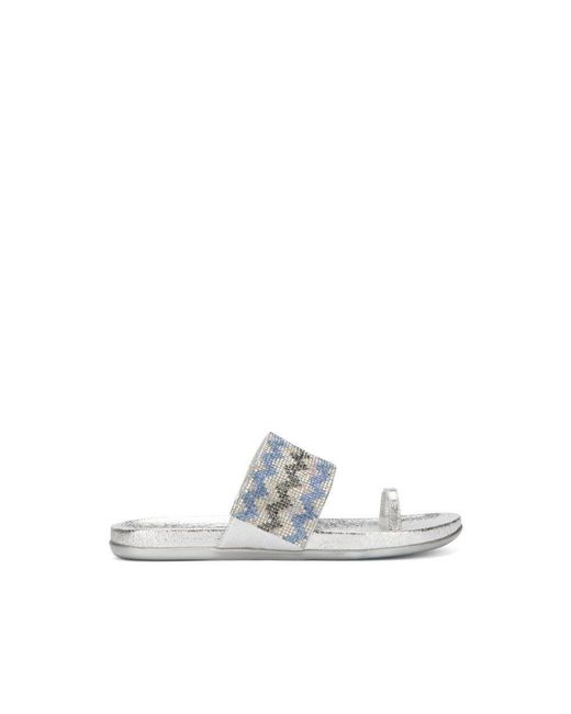 Kenneth Cole - Metallic Reaction Kenneth Cole Slim Tricks Jeweled Sandal - Lyst