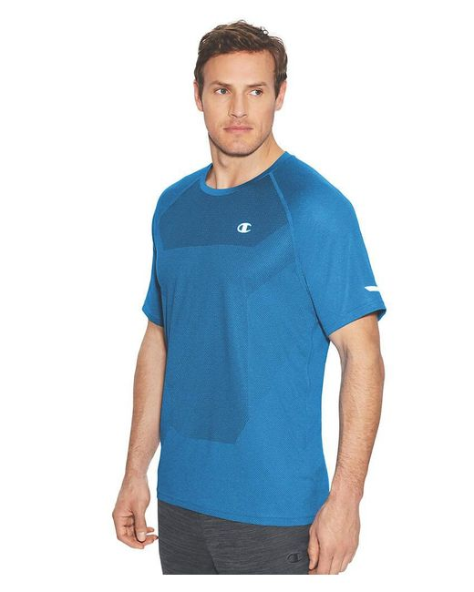 Champion | Blue S/s Outdoor Training Tee-s/running Waves Heather for Men | Lyst