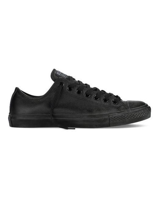 7c613cd6172c Converse - Black Unisex Chuck Taylor All Star Leather Low Top for Men - Lyst