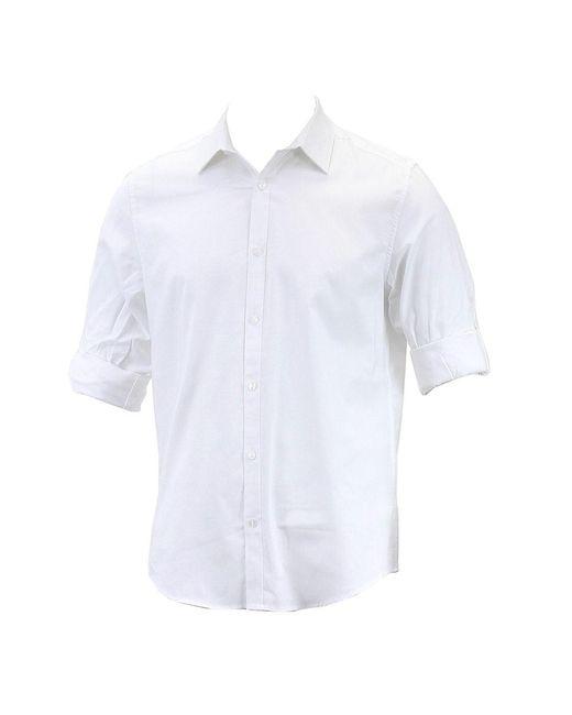 Calvin Klein - Black Non-iron Solid Yd Oxford Button Up Dress Shirt for Men - Lyst