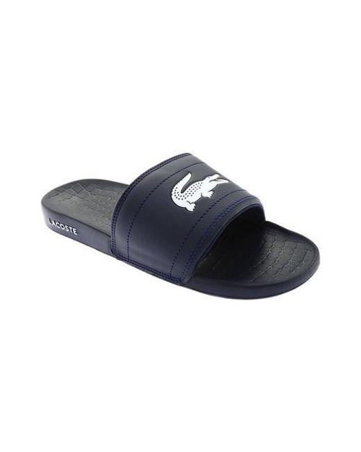 cf296a084 Lyst - Lacoste Frasier Slide Sandal in Blue for Men - Save 39%
