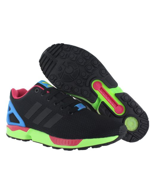 big sale dbc57 7e160 ... sale adidas black zx flux shoes size 10.5 for men lyst f5f8c fb684