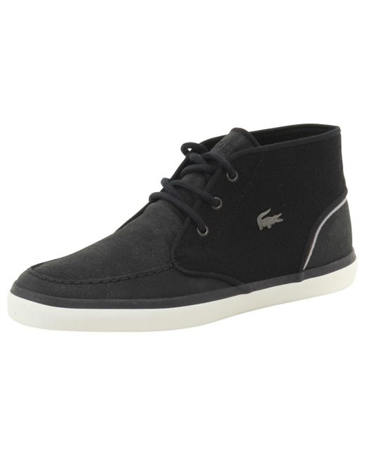 Lacoste   Sevrin Mid Lace 416 1 Black Suede Sneakers Shoes Sz: 10 for Men   Lyst