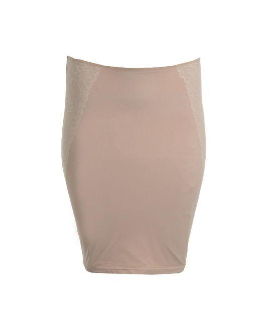 Spanx - Natural Womens Mesh Lace Trim Half Slip - Lyst
