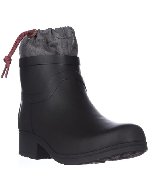 Lucky Brand | Black Rebeka Drawstring Rubber Rainboots | Lyst