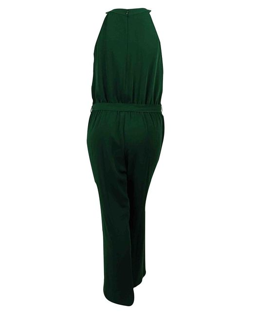 CALVIN KLEIN 205W39NYC - Green Sequined Pleated Neck Belted Jumpsuit (14w - Lyst