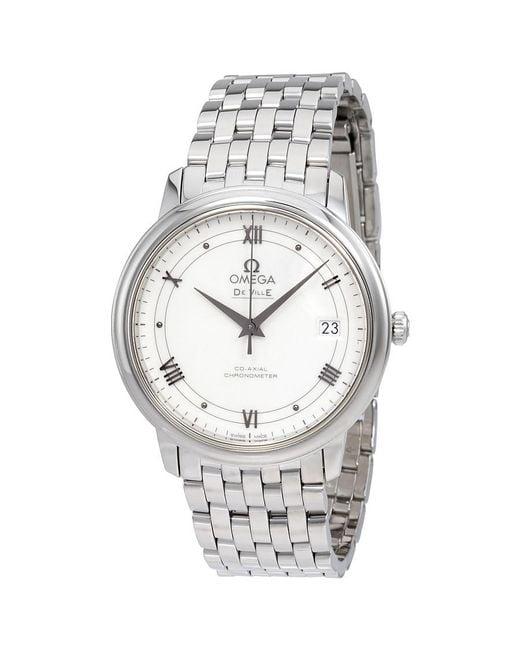 Omega - Metallic De Ville Automatic Ladies Watch 424.10.37.20.04.001 - Lyst