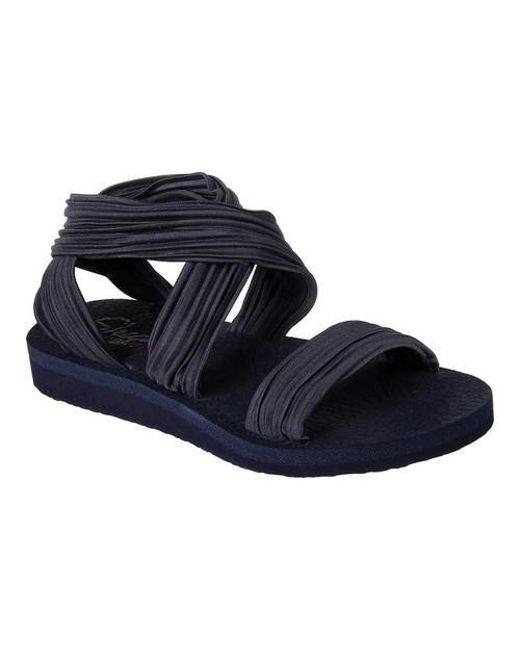 04158871dce Lyst - Skechers Meditation Still Sky Ankle Strap Sandal in Blue ...