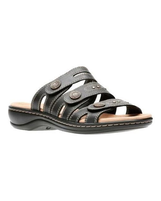 6e8165dcf78 Lyst - Clarks Women s Leisa Grace Sandals in Black - Save 48%
