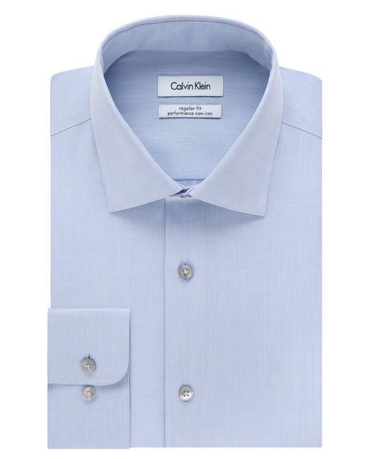 Calvin Klein - Blue Steel Men's Classic Fit Non-iron Performance Solid Dress Shirt for Men - Lyst