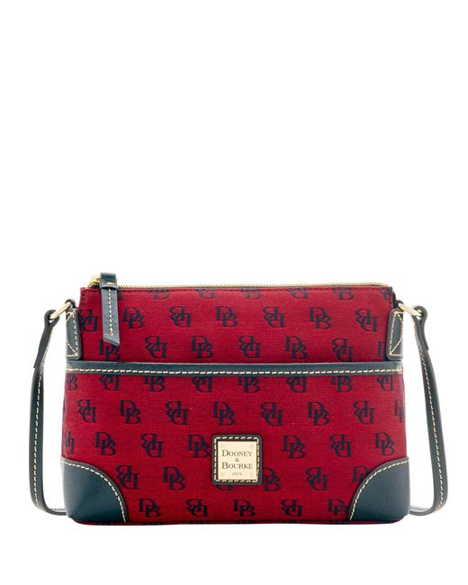 Dooney & Bourke | Red Madison Signature Ginger Pouchette | Lyst