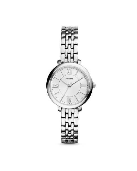 Fossil | Metallic Jacqueline Es3797 Silver Analog Quartz Watch | Lyst