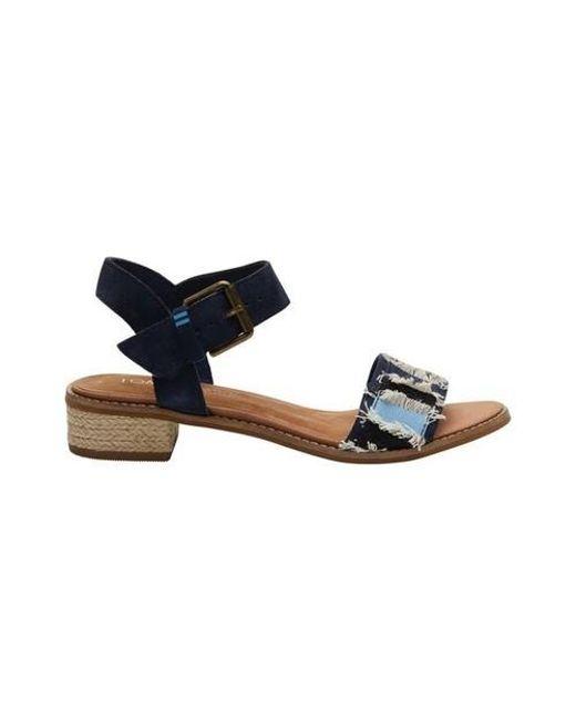 90a3d6fb148 Lyst - TOMS Camilia (honey Leather geometirc Woven) Women s Sandals ...