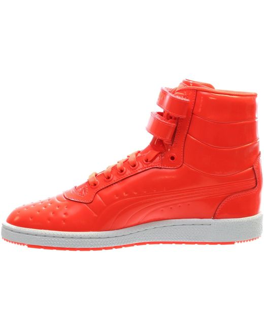 9edbd98ab5a1 ... PUMA - Sky Ii Hi Patent Emboss Red Blast Mens High Top Sneakers for Men  ...