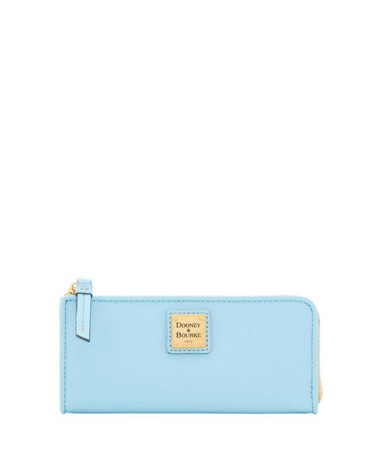 Dooney & Bourke - Blue Emerson Zip Clutch Wallet - Lyst