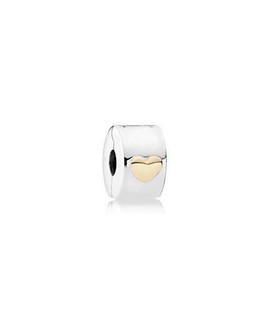 0ce50f6fc15 Pandora - Multicolor Classic Heart Fixed Clip Charm - 792080 - Lyst
