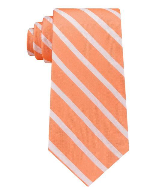 Tommy Hilfiger - Orange Men's Sedgwick Stripe Tie for Men - Lyst