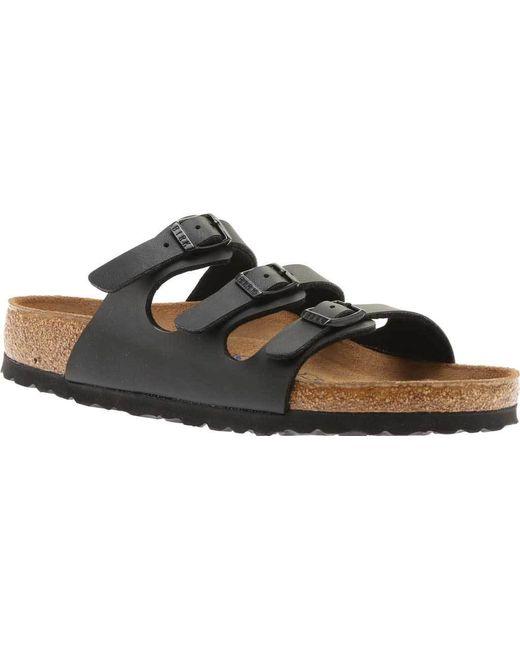 61569fccc8bb Lyst - Birkenstock Florida Birko-flor Soft Footbed Sandal in Black