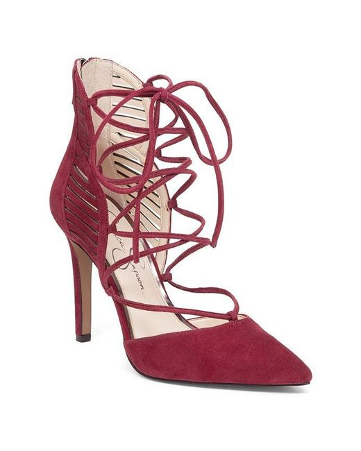 Jessica Simpson - Red Giavanna Women | Vanilla Cream / Elko Nubuck Perf (js-giavanna2) (7.5 Medium Us) - Lyst