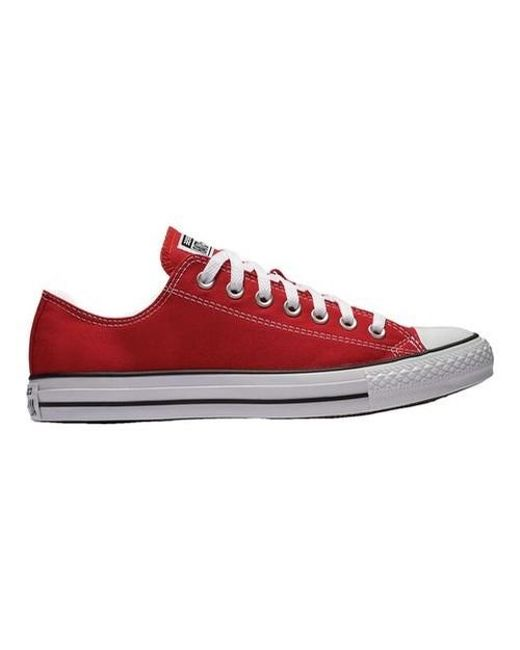 e0ec823f78bad6 Lyst - Converse Unisex Chuck Taylor All Star Low Top in Red for Men