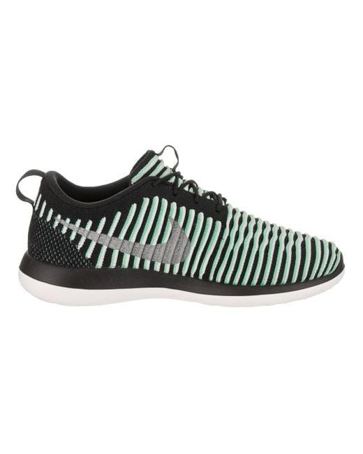 97f47b57d607 ... coupon code for nike kids roshe two flyknit gs green glow metallic  silver running shoe 5423b