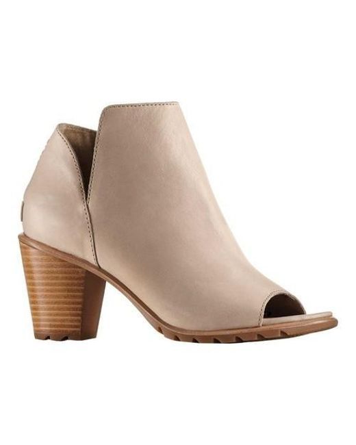 Sorel - Brown Nadia Peep Toe Bootie - Lyst