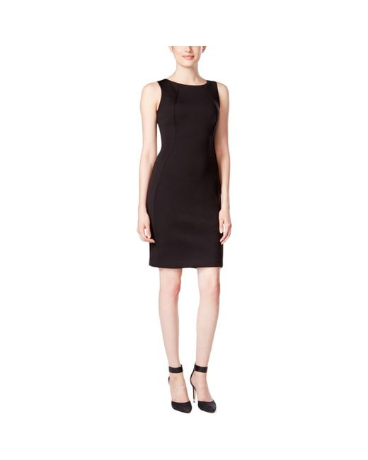 Calvin Klein | Black Cutout-back Sheath Dress | Lyst