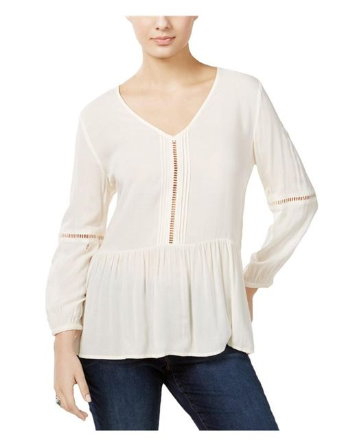 CALVIN KLEIN 205W39NYC - Casual Peasant Blouse Off-white Xl - Lyst
