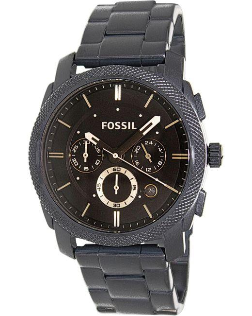 Fossil - Black Fs4682 Machine Stainless Steel Watch for Men - Lyst