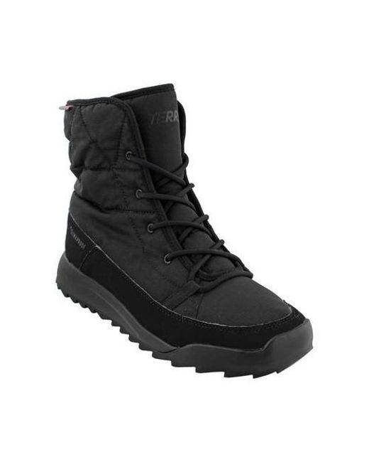 lyst adidas terrex choleah gepolsterte climaproof winter stiefel in schwarz