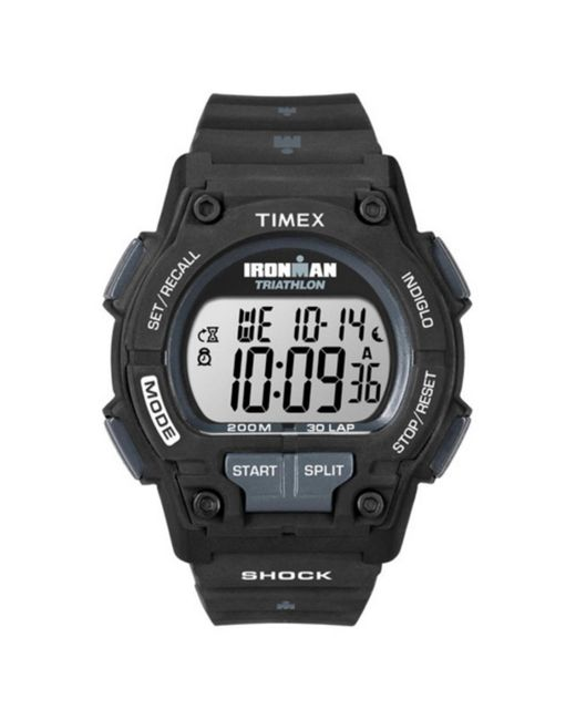 Timex - Black T5k196 Ironman 30-lap Shock Full-size Watch for Men - Lyst