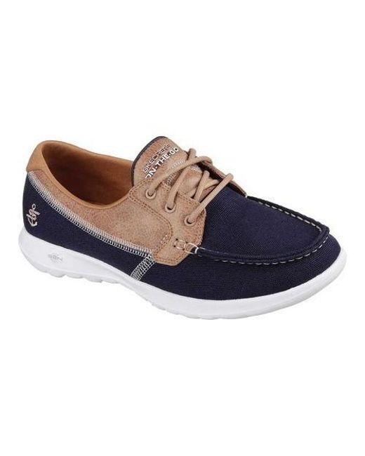 Skechers - Blue Gowalk Lite Coral Boat Shoe - Lyst