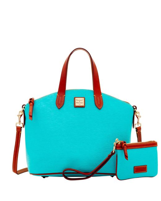 Dooney & Bourke - Blue Cork Satchel & Medium Wristlet - Lyst