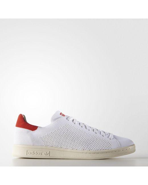 lyst adidas originals stan smith og primeknit tennisschuhe größe