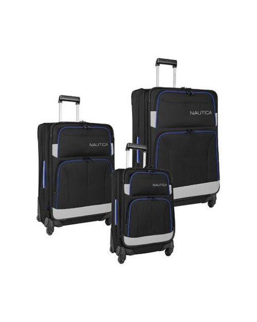 67b3dad37 Lyst - Nautica Unisex Shipline 3-piece Luggage Set in Black for Men ...