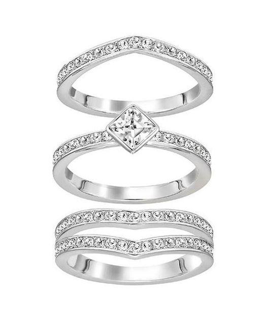 Swarovski | Metallic Alpha Ring | Lyst